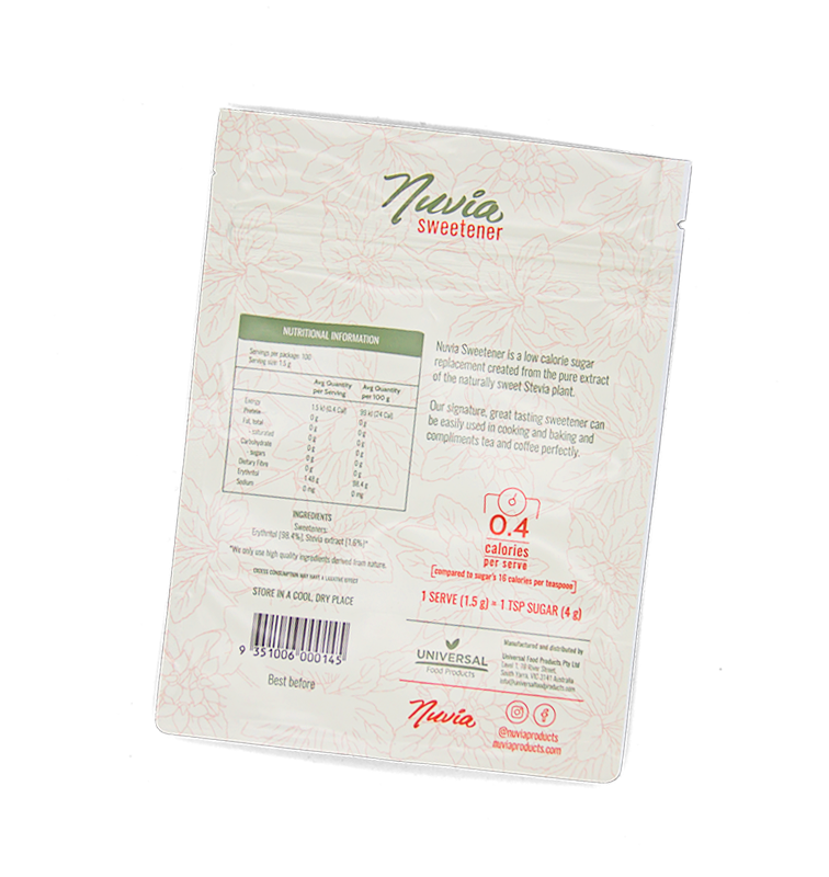 Nuvia Sweetener 150 g Pouch Bag