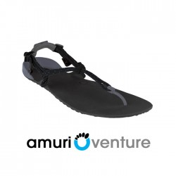 Xero Shoes Barefoot Sandals - Venture, Charcoal + Black