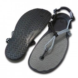 Xero Shoes Barefoot Sandals - CLOUD (Unisex), Charcoal + Black