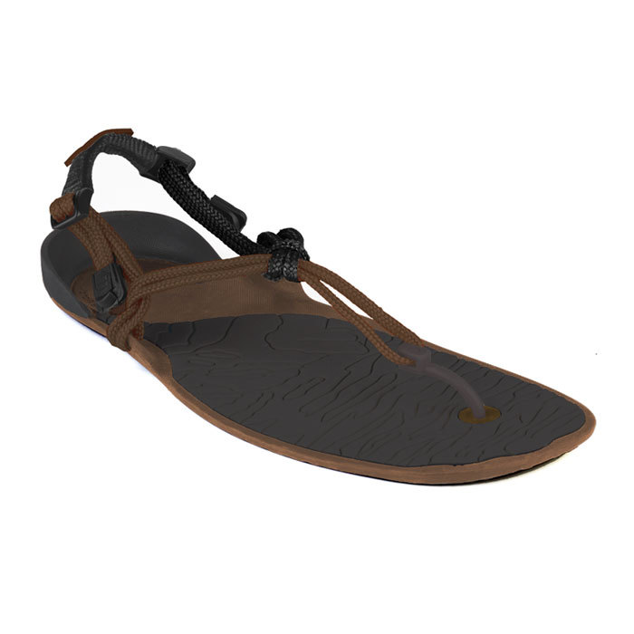 Xero Shoes Barefoot Sandals - CLOUD (Unisex), Mocha + Black