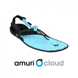 Xero Shoes Barefoot Sandals - CLOUD (Unisex), Coal Black + Aquarius