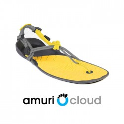 Xero Shoes Barefoot Sandals - CLOUD (Unisex), Charcoal + Lemon