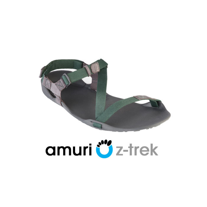 Xero Shoes Z-trek Sports Sandal (Women), Charcoal + Hunter Green