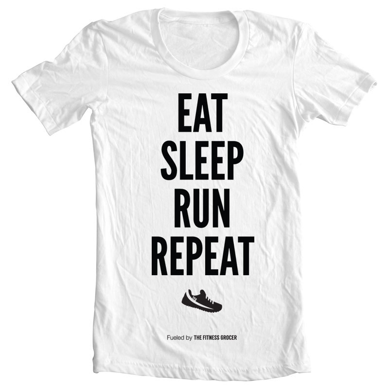 Eat Sleep Run Tee - White