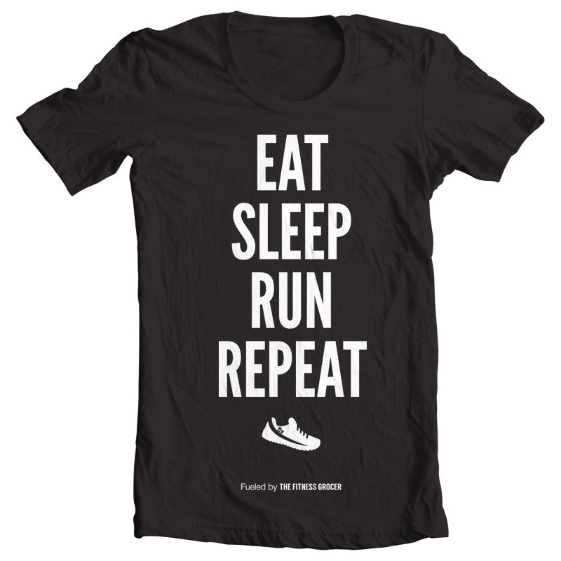Eat Sleep Run Tee - Black