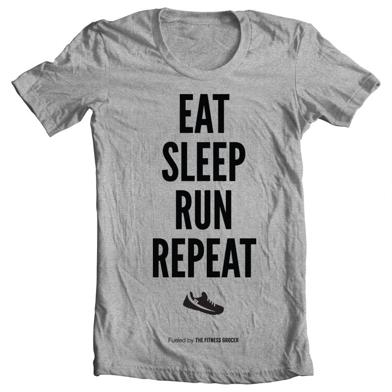 Eat Sleep Run Tee - Heather Grey