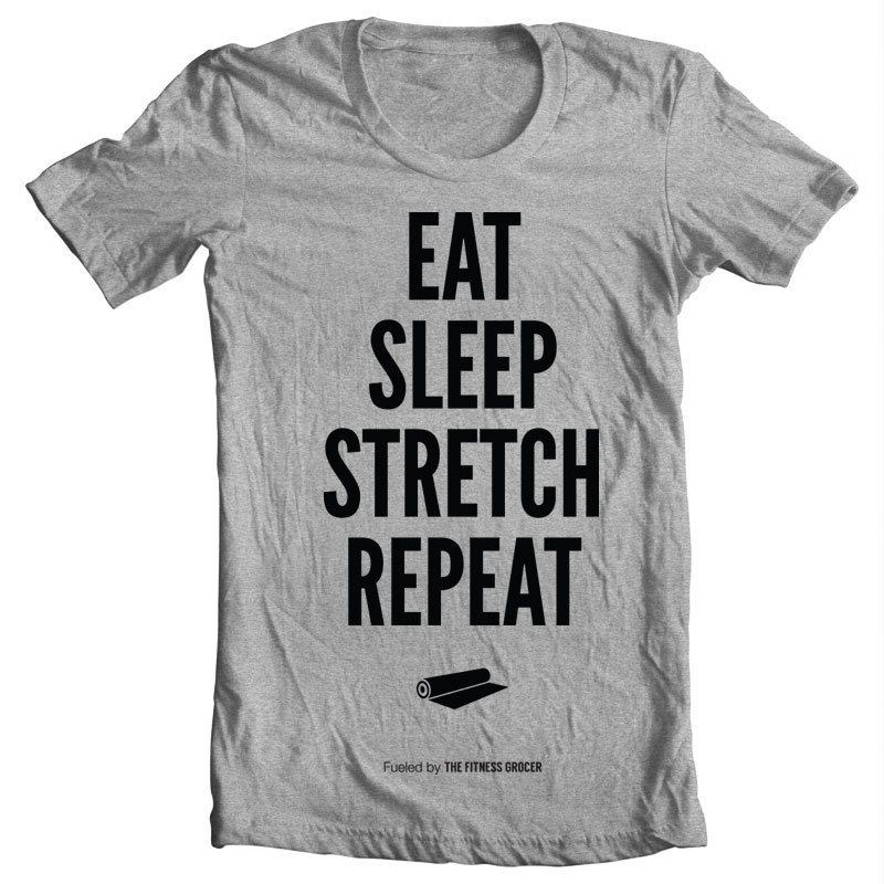 Eat Sleep Stretch Tee - Heather Grey